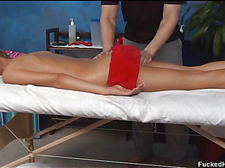 Cute 18 year old oriental gal acquires screwed hard by her massage therapist