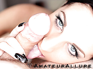 Racquel is a nice-looking Twenty year old black brown, with all natural titties and a tiny bald cookie.  This Honey is a total jock engulfing freak, that can't seem to get sufficiently cum in her mouth. When u watch what this honey does to my jock u will understand. That Honey rode my jock like a pro and then I flipped her over and stretched her cum-hole good. We had a banging worthy time and that honey swallowed a sticky load.