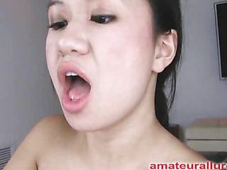 Carmina is an asian slut without gag reflex. This Chick takes a 10-Pounder all the way down her face aperture and holds it for a during the time that. Then Carmina acquires her bald cum-hole fucked then the 10-Pounder goes right back into her mouth. This Chick jerks off Thoma