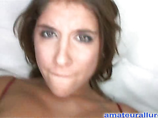 Glamorous darksome brown cutie has a astonishing wazoo and some serious rod engulfing skills. That Hottie receives her bald impure cleft pounded whilst her large breasts are bouncing. Then this playgirl takes the one and the other hands and jerks off Ray's large dong