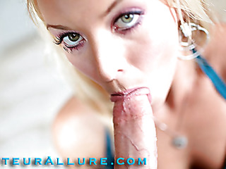 Shay loves to give head and that playgirl shows just how much when this playgirl bobs and face holes a large shlong aggressively during the time that rubbing her bald muff then this playgirl gets screwed real hard only to have a giant load of cum discharged into her waiting mouth.