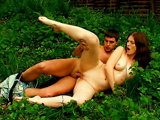 This cute redhead teen has a natural angel about her, so what greater amount nice place for a sex filled adventure than outdoors. They actually found a hawt and steamy way to have a fun nature. This Babe looks so cute and virginal, but that honey can`t await to acquire stripped with this stud. This Babe doesn`t care if they`re outdoors and there`s a chance that they`ll acquire caught. All that honey cares about is getting the sexual satisfaction that this honey needs. And glamorous glamorous pretty soon that babe`s getting that satisfaction in the form of his beefy knob pounding her constricted, delicate vagina.