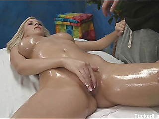 Nice-looking 18 year old receives drilled hard by her massage therapist
