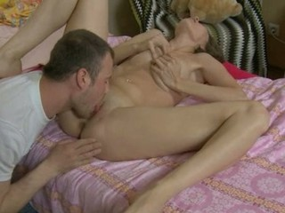 Tender sweetheart with big moist breasts seems to adore rear fuck