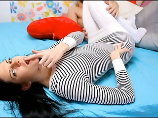 2 bisexual beauties are having trio with favourable boy-friend