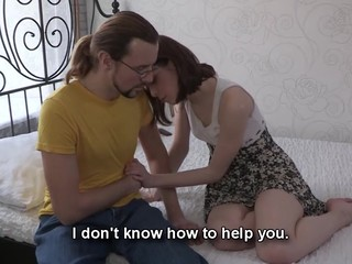 This nerdy fellow can't satisfy his girlfriend the one and the other financially and sexually. However, there is one way to solve these problems at once if that fellow lets her rich Internet ally fuck her for money. That Chap knows his chick wishes a precious fuck and a new costume and even though watching her engulf and ride that handsome lad's ding-dong makes him desperately jealous that guy stays through the entire action to be there when this sweetheart gets the not quite all outstanding large O ever. Screwed up love as it is!