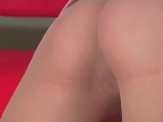 Lewd cutie tries to push her finger inside wet crack throughout tights