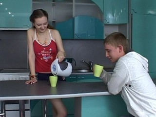 Teen wench is totally gratified by a ardent and hawt sex scene