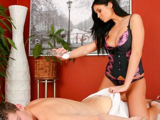 Lovely Christina Jolie Has Very Fine Massages Techniques!