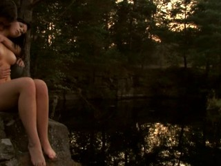 Find out a passionate teen fucking scene outdoors during sunset