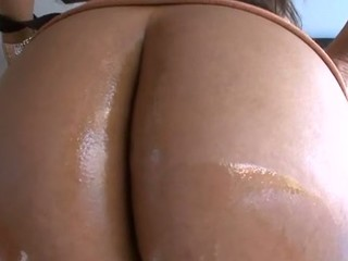 Cute honey stands in different positions getting arse gangbanged
