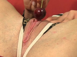 Chick is experiencing heavenly pleasures with sex tool play