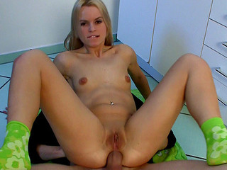 Czech cutie Sabrina Blond gets bizarre sized jock up in her tight wazoo