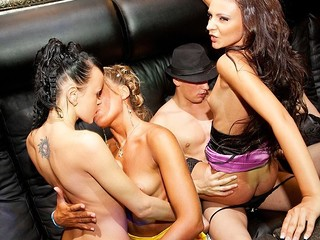 What happens when sexy college strumpets hang out in a night club? They fuck the hottest stripper!