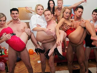 Even good and decent angels turn into hot college sluts at student sex parties! See what they're capable of!