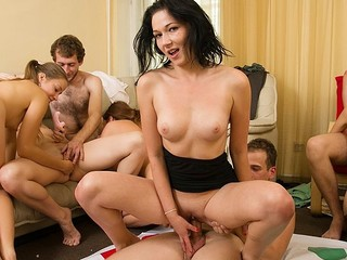 Concupiscent students adore hot celebrations. They disrobe and plunge into sexual group fuckfest in sexy student sex party movie.